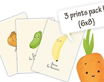 3 print pack (6x8)