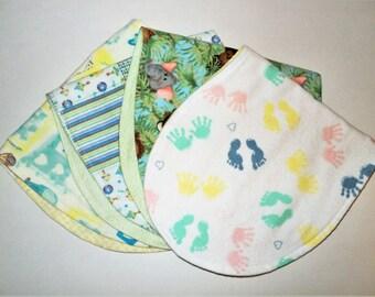Gender Neutral Burp Cloths, Flannel Burp Pad Set, Newborn Gift, Feeding, Burp Rags, Nursing, Essentials, New Mom, Baby Gift, Baby Shower