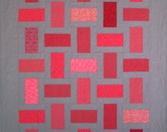 Bricks and Mortar Modern Lap or Throw Quilt - 51 in. X 67 in.