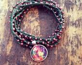 Swirly Whirly: Versatile crocheted necklace / bracelet / belt / headband