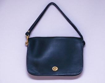 80s Green Leather Hunt Club Satchel Messenger Style Shoulder Purse Deadstock