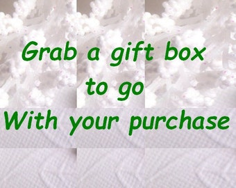 Single Gift Box - Gift Wrapping To Go With Your Purchase