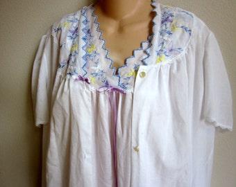 Vintage cotton nightgown & robe set Lorraine XL 1X plus size