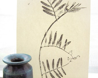 Leaf monoprint