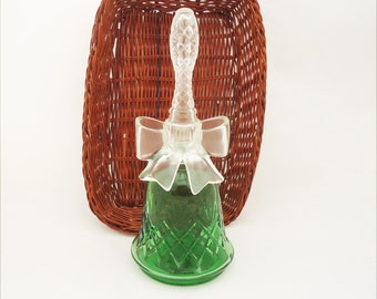 "Vintage Avon ""Charisma"" Perfume Bottle, Green Bell Shaped Perfume Bottle, Bell with Bow Avon Perfume bottle"