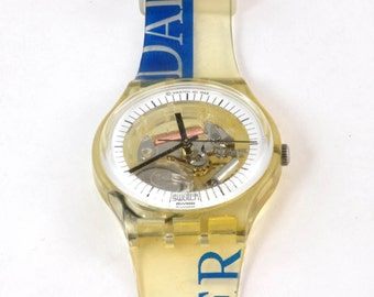 Vintage Swatch Watch - Daimler Chrysler  -  GZ157 Novelty Wrist Watch, Gift Watch
