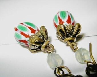 Lovely glass pearl earring