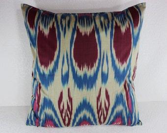 Cotton Ikat Pillow, Ikat Pillow Cover,  C101, Ikat throw pillows, Designer pillows, Decorative pillows, Accent pillows