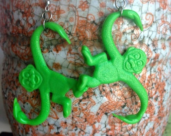 Green Barrel O' Fun Earrings