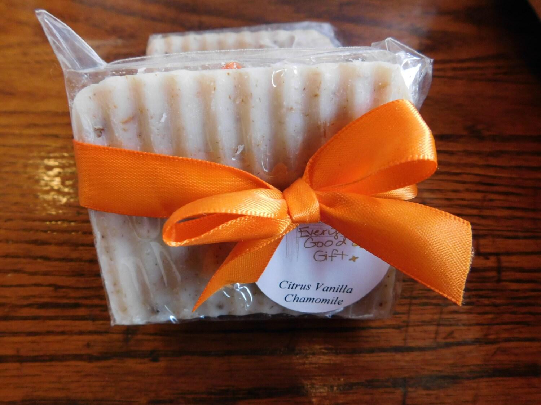 Citrus Vanilla Chamomile Handcrafted Soap