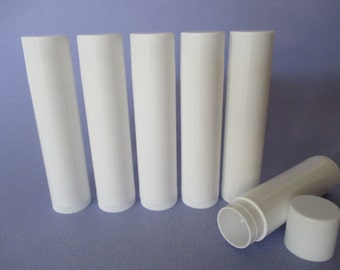 20 White Empty Chapstick, Chap stick Tubes