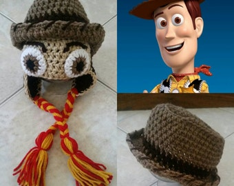 Crochet Toy Story Woody Hat