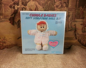 "Vintage 16"" CUDDLE Babies Soft Sculpture VICKIE Doll KIT by Huggables CB404"