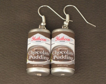 Chocolate Pudding Earrings For The Walking Dead Zombie Apocalypse - Zombie Survival Kit - Kitsch Zombie Jewellery