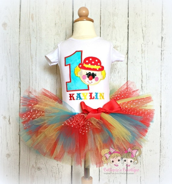 Birthday Circus Clown Tutu Set Birthday Party Outfit
