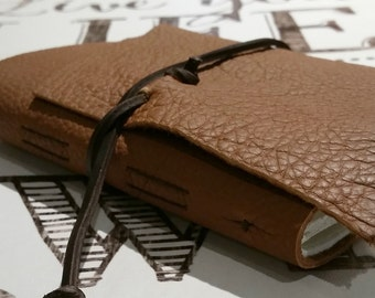 """Slim Leather Journal - Honey Brown Journal 4.5"""" x 6"""" by The Orange Windmill"""