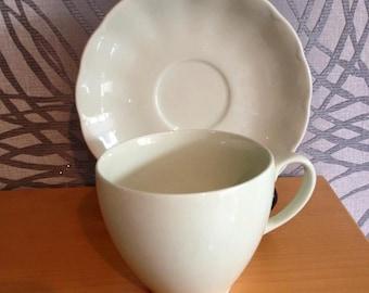 Vintage 1940's 1950's Green Petal Ware Grindley Tea cup & saucer