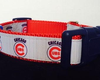 Chicago Cubs Dog Collar ...Pin  Stripe