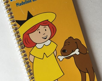 MADELINE and the DOG SHOW Notebook Journal upcycled spiral notebook Recyledy Made from an actual vhs movie cover