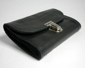 """purse """"black leather"""""""