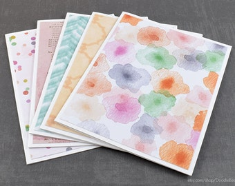 Watercolor Cards. Assorted Cards, Set of Cards, Blank Greeting Cards, Stationery Cards, Blank Cards, Handmade Cards, Greeting Card Set