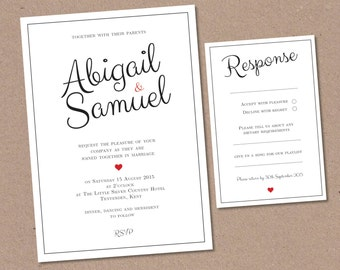 grey wedding invitation rsvp card set kit lace by chubbysparrow