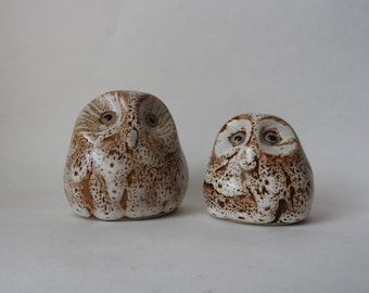 Pigeon Forge Pottery Owl Figurines