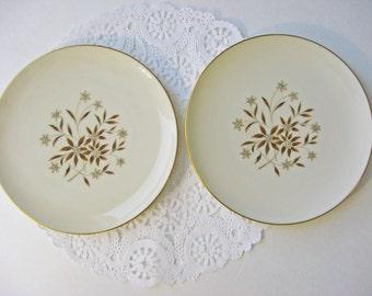 Vintage Lenox Starlight Salad Plates - Set of 2 - Midcentury - Lenox Salad Plates Lenox Dessert Plates - 1960s
