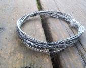 Fiber Wire Core Handspun Art Yarn 24 gauge wire Red Riding Hoods Wolf- The Zebra