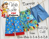 Trevor Boy's Pants Pattern, Boys Pants, Toddler Pants, Beach Shorts Pattern, pdf Sewing Pattern, Boy's Shorts Pattern. Toddler pdf Pattern