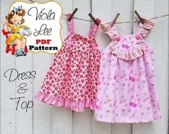 Maisy...Baby Dress Sewing Pattern. Girl's Dress Pattern pdf. Girl's Top Pattern. Girl's Dresses. Babies pdf Sewing Patterns. Sewing Patterns