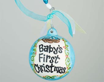 Personalized Baby's First Christmas Glory Haus Baby Ornament