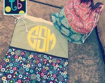 Adorable Personalized Monogram Laundry Bag
