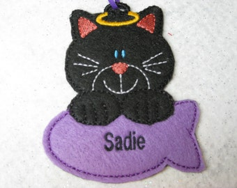 Personalized Cat Ornaments or Gift Tag