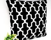 Black and white geometric cushion black pillow black cushions geometric pillows pillow cover throw pillow moroccan cushion cover