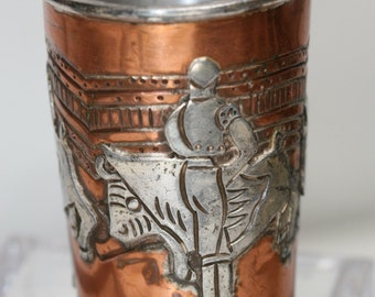Vintage Copper and Silver Small Cup - Ana Nunez Brilanti - Taxco