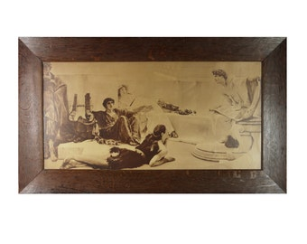 Antique Late 19th Century Pictorialist Brown-Tone in Oak Frame