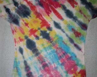 Tie Dye T-Shirt Womens Size S Gildan Soft Style 100% Cotton TDC045