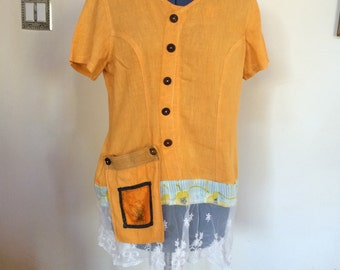 Womens Upcycled Top
