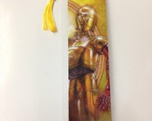 Upcycled C-3PO Comic Book Bookmark
