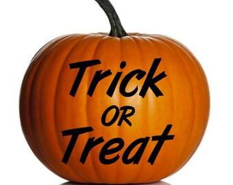 Trick or Treat Halloween Vinyl Decal