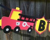 Firetruck Name Banner
