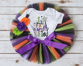 I put a spell on you Halloween tutu, witch tutu, Halloween outfit costume Halloween tutu outfit baby girl halloween outfit girls halloween