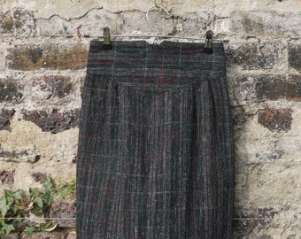 1980s wool mini skirt