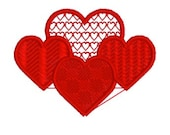 embroidery heart, lace heart, embroidery design, instant download, embroidery file, digitized embroidery, embroidery machine, heart design