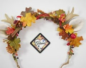 Fall Deer Antler Headband- Lolita Headband-Whimsical-Fawn-Horn-Woodland-Fall