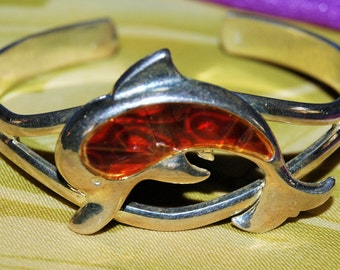 DOLPHIN STERLING CUFF c1990