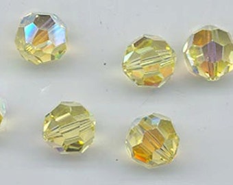 "Twelve ""out of program""  Swarovski crystals - Art. 5000 - 8 mm - jonquil AB"