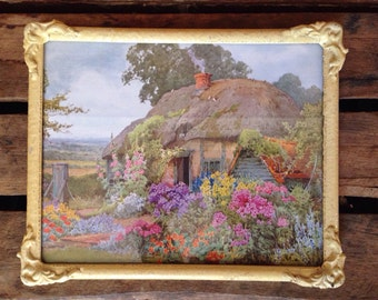 Vintage Framed Print - Country Cottage
