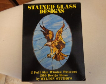 Book -  Stained glass Designs by walton Studios C 1977